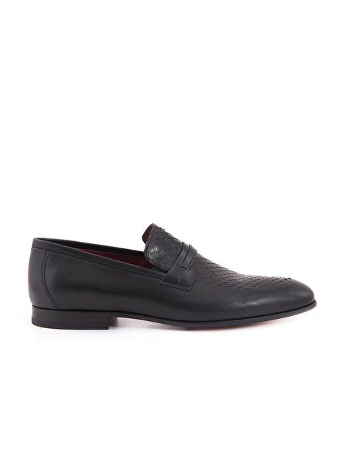 Mocassini %100 Deri Klasik Ayakkabı Siyah